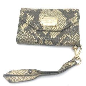 Authentic MICHAEL KORS Python Leather Phone Case